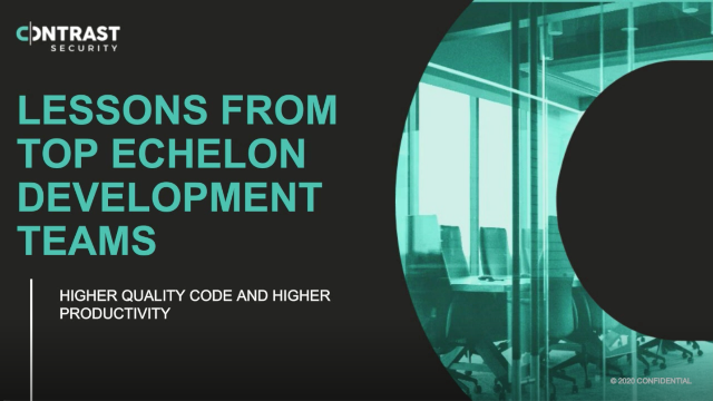 Lessons from Top Echelon Development Teams: Higher Quality Code and Higher Produ