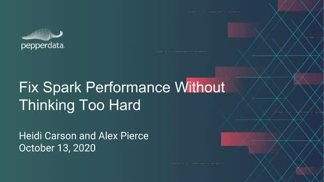 Fix Spark Performance Issues Without Thinking Too Hard