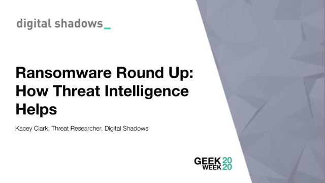 Ransomware Round Up: How Threat Intelligence Helps