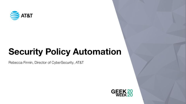 Security Policy Automation