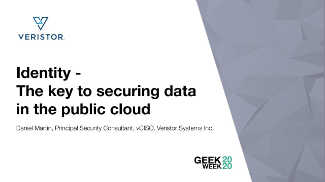 Identity – The key to securing data in the public cloud
