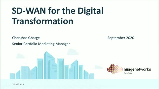 SD-WAN for the Digital Transformation