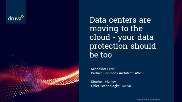 Data centers are moving to the cloud - your data protection should be too