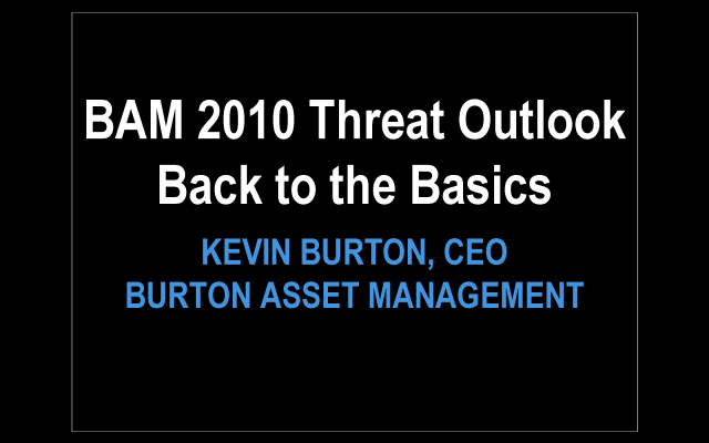 2010 Risk Outlook, Time to Get Back to the Basics