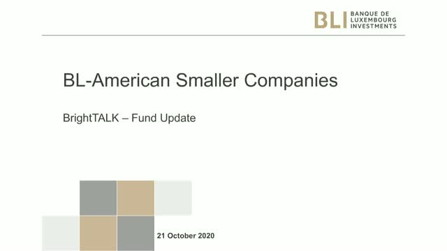 BL American Smaller Companies - 3rd quarter 2020 - Strategy update
