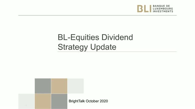 BL Equities Dividend - 3rd quarter 2020 - Strategy update