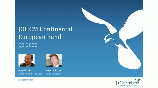 JOHCM Continental European Fund Q3 20 Update