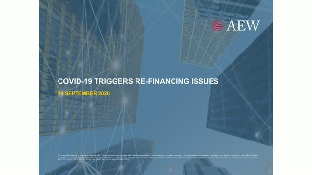 COVID-19 TRIGGERS RE-FINANCING ISSUES