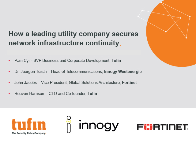 How a leading utility company secures network infrastructure continuity