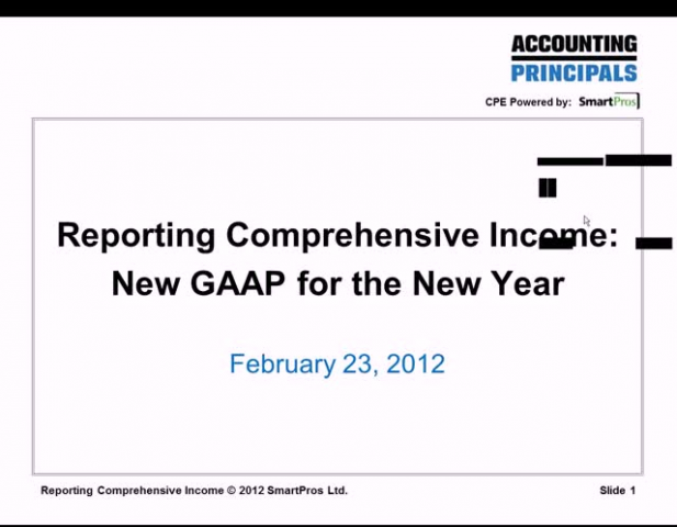 New GAAP for the New Year