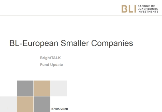 BL European Smaller Companies - 3rd quarter 2020 - Strategy Update