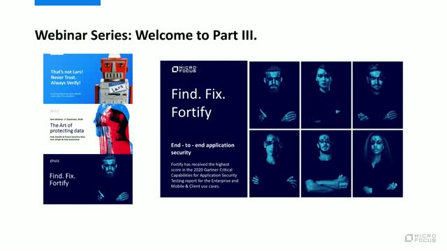 Webinar 3: Find.Fix.Fortify – End-to-end application security
