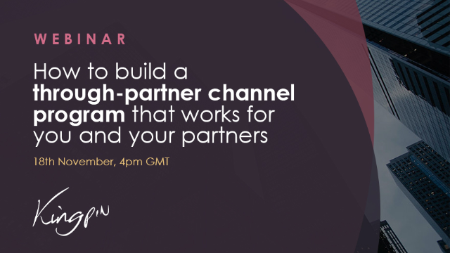 How to build a through-partner channel program that works for you
