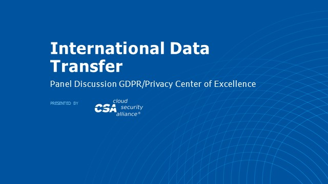 International Data Transfer