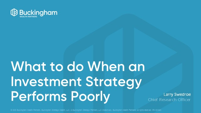 What to Do When an Investment Strategy Performs Poorly