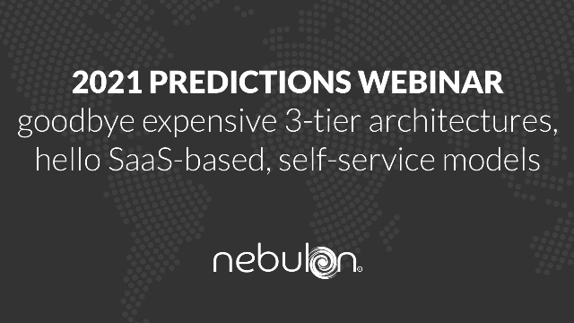 Goodbye Expensive 3-tier Architectures, Hello SaaS-based, Self-service Models