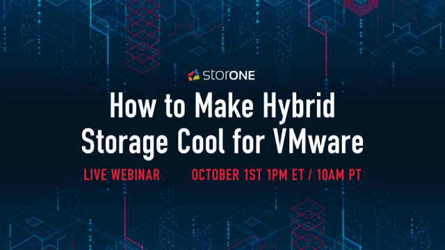 Live Webinar: How to Make Hybrid Storage Cool for VMware