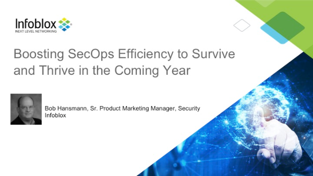 Boosting SecOps Efficiency to Survive and Thrive in the Coming Year (EMEA)