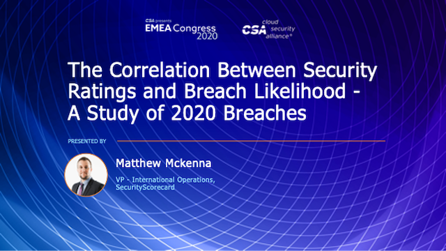 The Correlation Between Security Ratings and Breach Likelihood