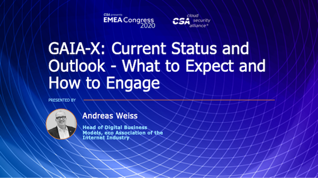 GAIA-X: Current Status and Outlook – What to Expect and How to Engage