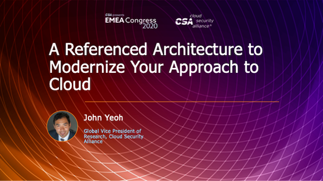 A Referenced Architecture to Modernize Your Approach to Cloud