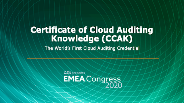 CCAK: The industry's first global cloud auditing credential