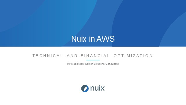 Nuix in AWS – Technical and Financial Optimization