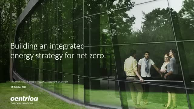 Building an integrated energy strategy for net zero