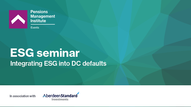 Integrating ESG into DC defaults
