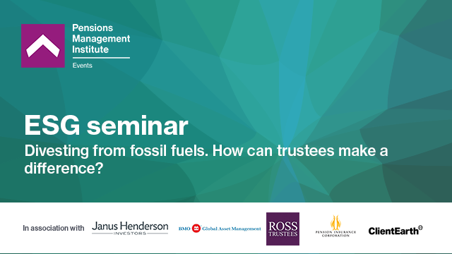 Divesting from fossil fuels - how can trustees make a difference?