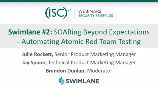 Swimlane #2: SOARing Beyond Expectations - Automating Atomic Red Team Testing