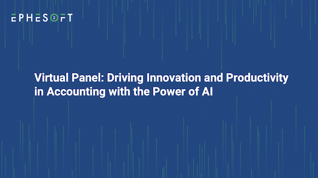 Panel: Driving Innovation and Productivity in Accounting with the Power of AI