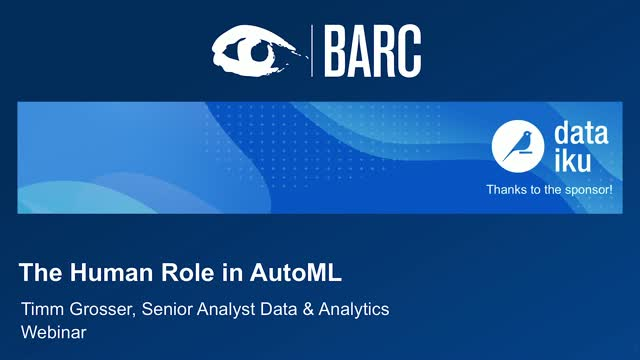 The Human Role in AutoML