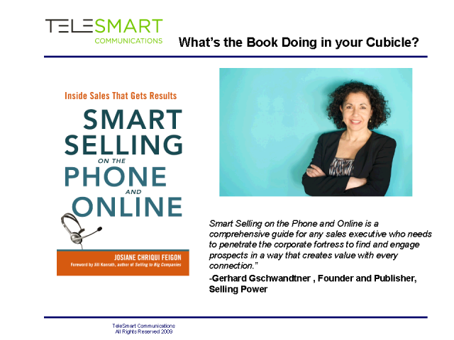 Smart Selling on the Phone and Online- Chapter #3