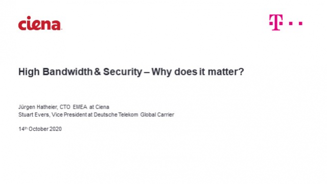 High Bandwidth & Security – Why Does It Matter?