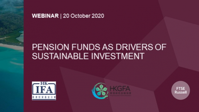 Pension Funds as drivers of sustainable investment