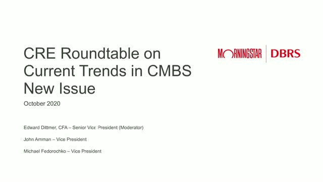 CMBS Webinar Series: Observed Value Trends, Changes to New Issuance Deal Metrics