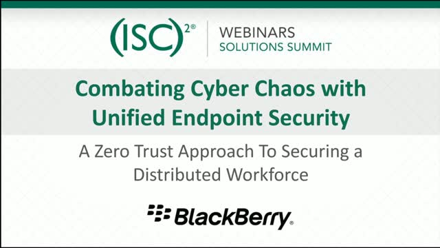 Blackberry #2: Combating Cyber Chaos with Unified Endpoint Security