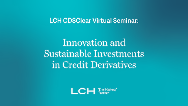 Innovation and Sustainable Investments in Credit Derivatives