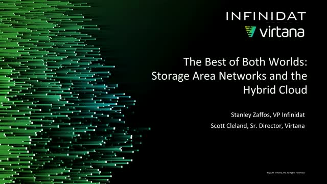 The Best of Both Worlds - Storage Area Networks and the Hybrid Cloud