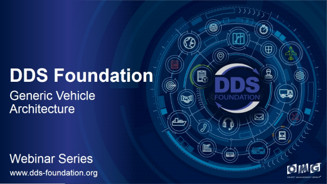 DDS Use Case: Generic Vehicle Architecture (GVA)