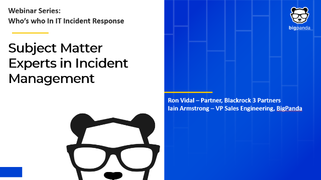 Who's who in IT Incident Management: Subject Matter Experts