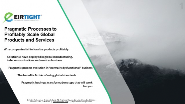 Pragmatic Processes to Profitably Scale Global Products
