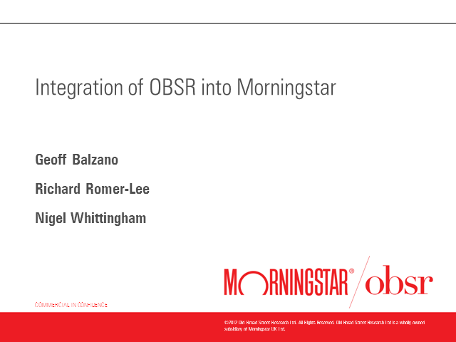What Does The Morningstar OBSR Rebrand Mean for IFAs?
