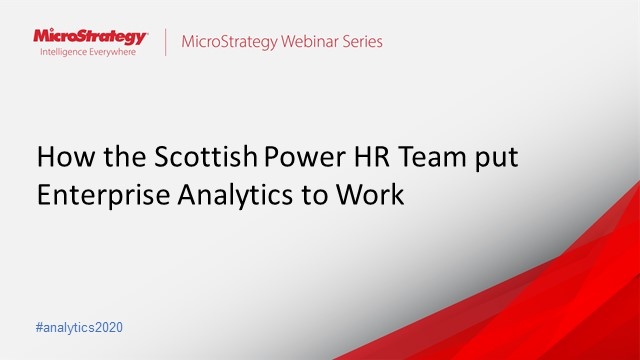 How the ScottishPower HR team put Enterprise Analytics to work