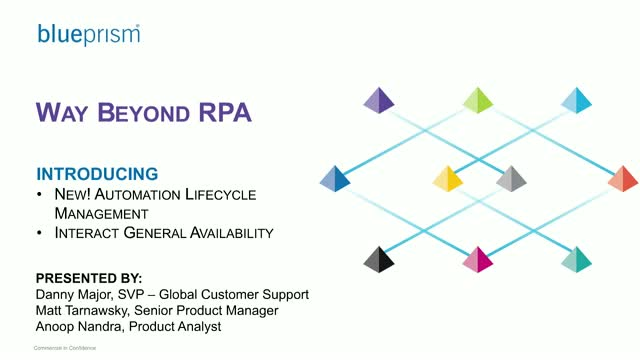 Go Way Beyond RPA with Blue Prism Interact and Automation Lifecycle Management