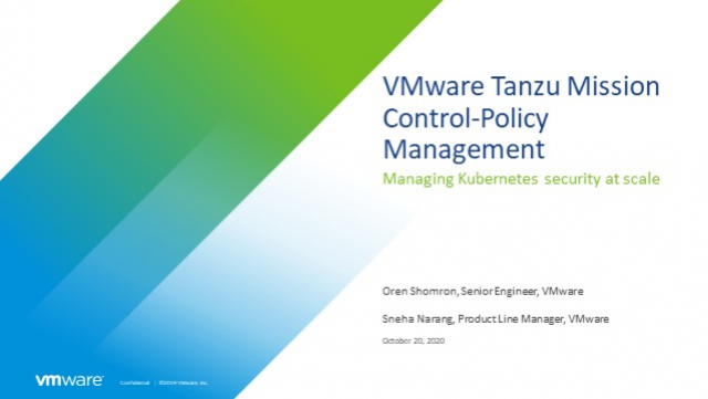 Manage security for Kubernetes at scale across clouds with Tanzu Mission Control