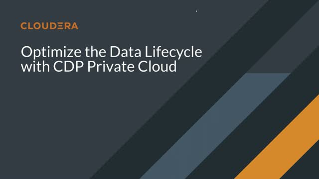 Data lifecycle on CDP Private Cloud