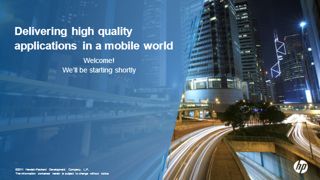 Delivering high quality applications in a mobile world