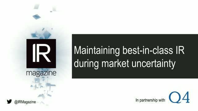 Webinar – Maintaining best-in-class IR during market uncertainty